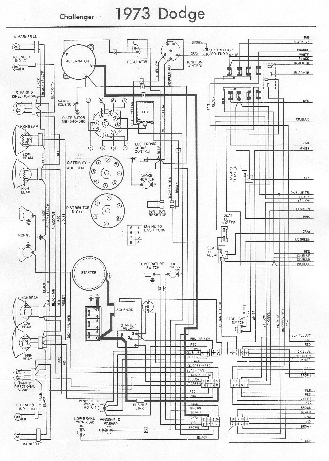 73 Dodge Dart Wiring Diagrams